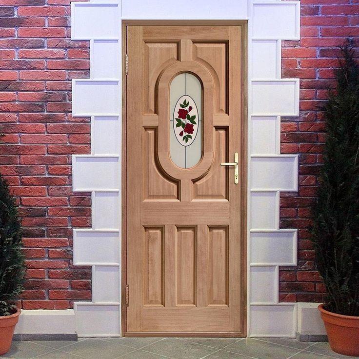 Front doors for sale, the Acacia mahogany hardwood door, glass is very pretty. #glassdoor #frontdoor #traditionalhomedoor