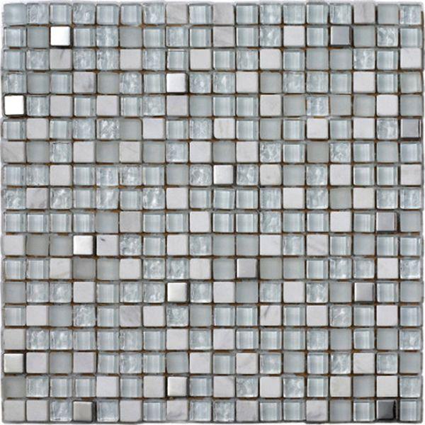 Konradssons Kakel Lagos glacier vit glasmosaik 1,5x1,5 mm (nät 30x30 cm) | Stonefactory.se