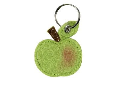 Mini Make - How to make an apple keyring from felt - Woman's Weekly