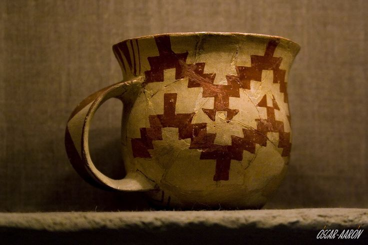 Ceramic vessel found in Sesklo. Neolithic exhibition of the Archaeological Museum of Volos, Greece.
