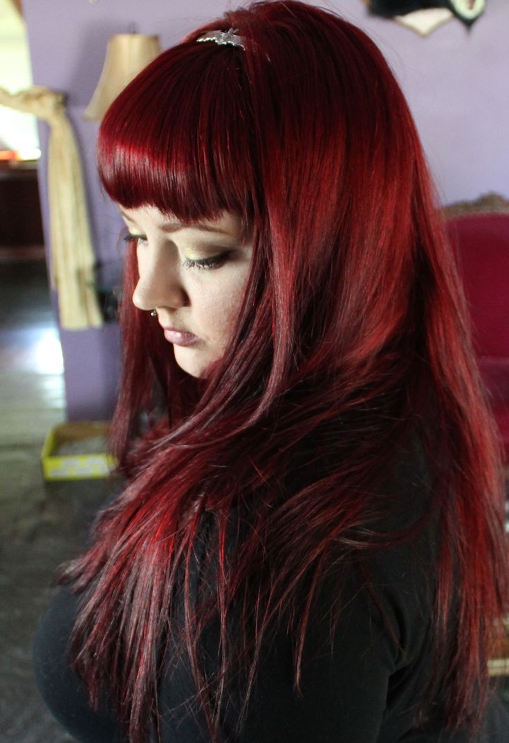 Merlot hair color - How To Get And Keep Bright Red Hair