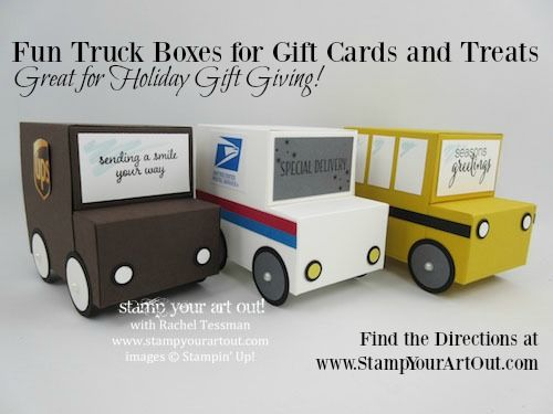 Adorable Truck Boxes for Holiday Gift Giving