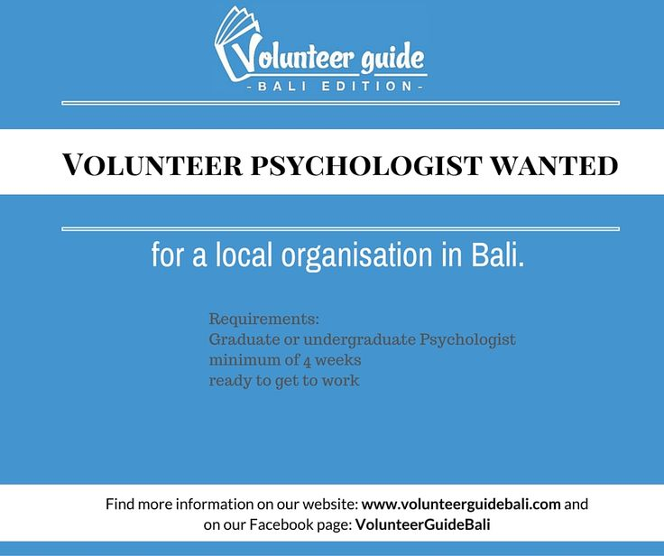 Find more information about this volunteer position on our website: www.volunteerguidebali.com