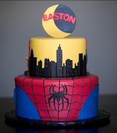 22 best cake images on Pinterest Spider man cakes Spiderman and