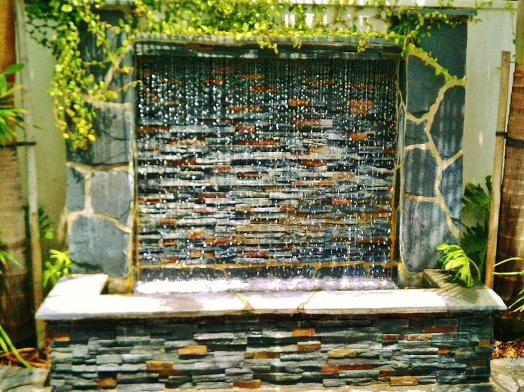 Waterwall Fountain By Enviroscapela.com Designed And Installed By Mike  Garcia, Founder Of Enviroscape · Garden WaterfallWall ...