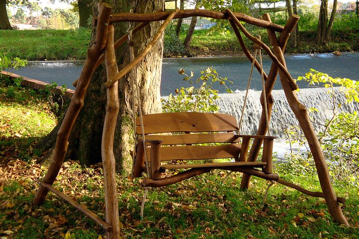 image detail for oak 2 seater garden swing bench have a