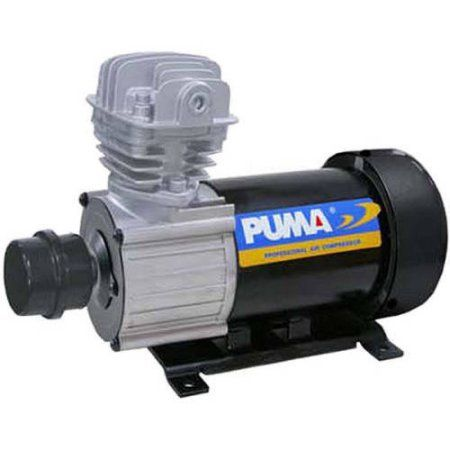 Puma Industries Air Compressor, DE05, Professional D.C. Direct Drive Oil-Less Series, .5 HP Running, 135 Max PSI, 12 Voltage/Phase, 18 lbs.