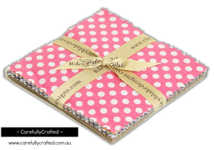"""CarefullyCrafted - Riley Blake Small Dots - 5"""" Stacker http://carefullycrafted.com.au/riley-blake-small-dots-5-stacker-5-350-14/"""