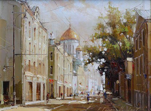 "Ramil Gappasov, ""Old Arbat"", oil/canvas"