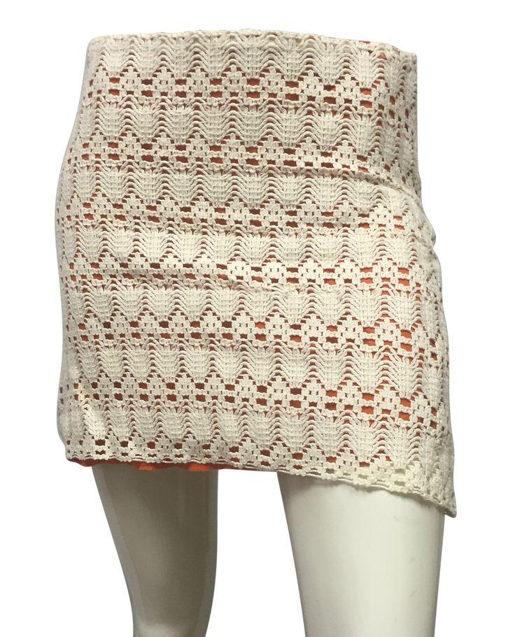 Judith March Cream and Orange Skirt (SKU 000054)