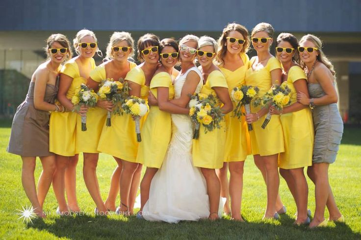I like the pose and sunglasses, would make it a different color scheme for my wedding