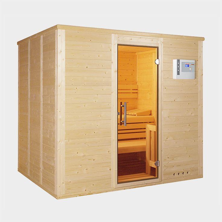 massivholzsauna comfort massiv made in germany mit 45. Black Bedroom Furniture Sets. Home Design Ideas