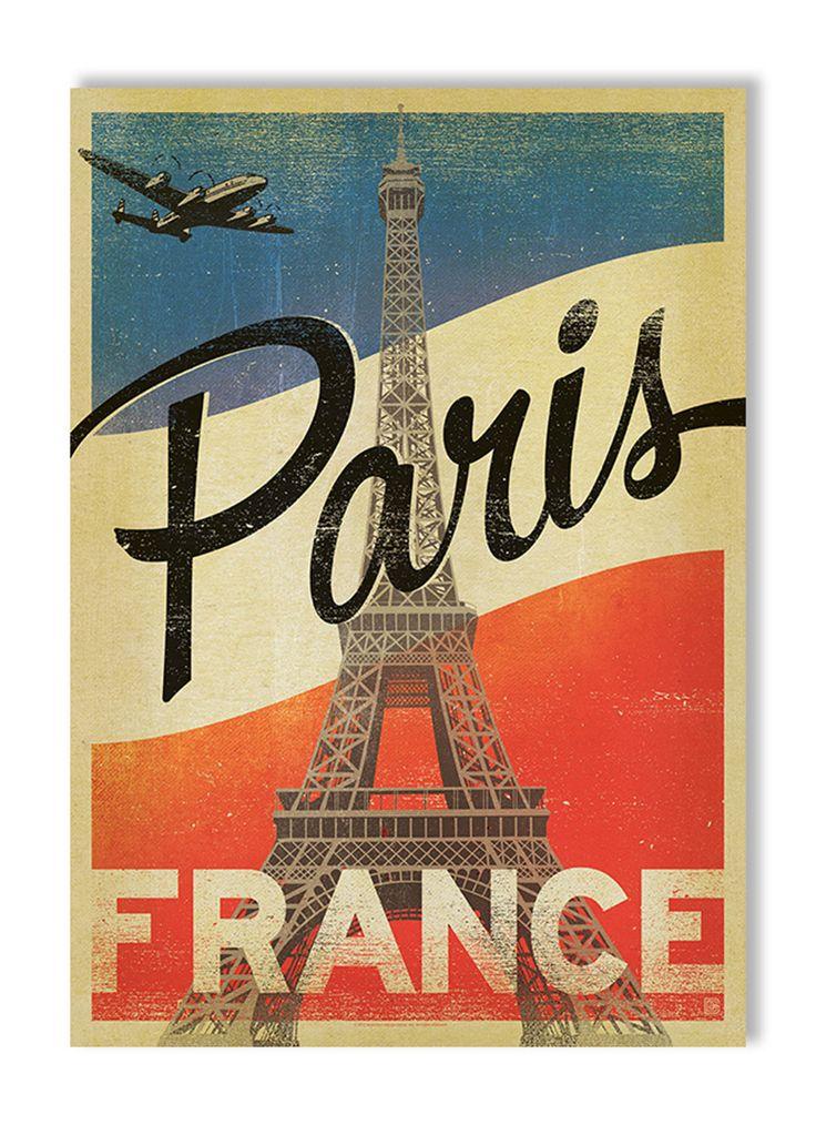 Joel Anderson Prints Paris Flag Gallery Print