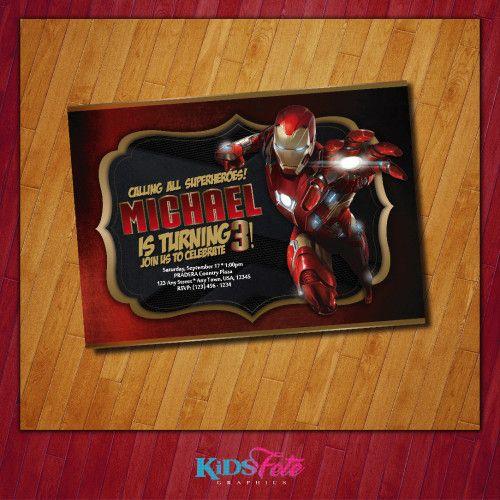 28 best iron man images – Iron Man Birthday Card