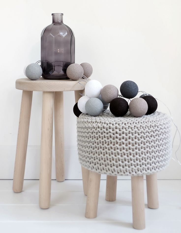 Cotton balls Chestnut - scandi decor