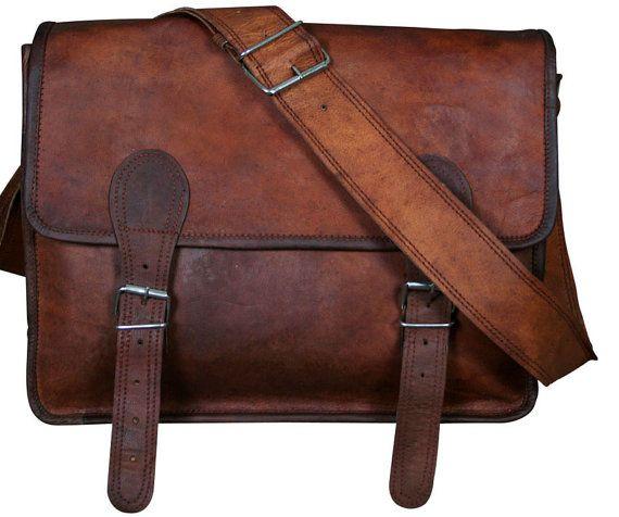 Renaissance Handmade Leather Satchel Messenger Bag Unisex - 10 to 18 inches