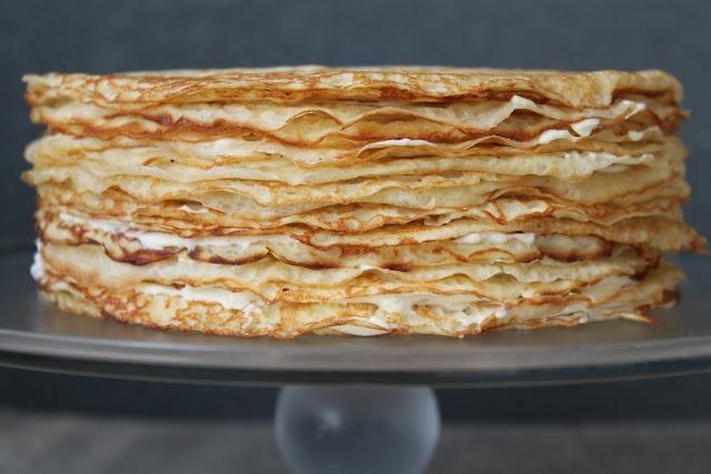Crepe Cake(looks yammmm) I bet it taste even better.