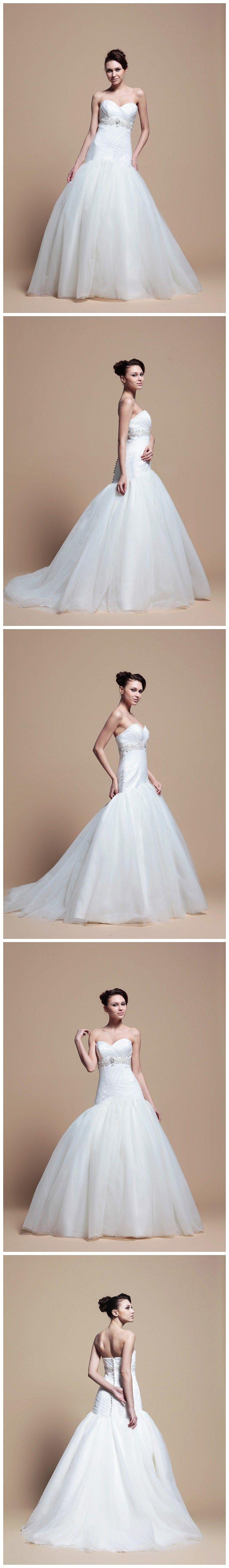 Sweetheart With Dropped Waist Fashion Wedding Dress