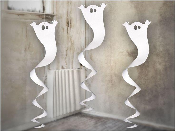 Fantasma Ghost da Appendere Scherzo amici party halloween Festa fantasmi