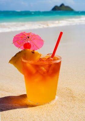 Mai Tai: White rum, dark rum, orange curacao, pineapple juice & orange juice