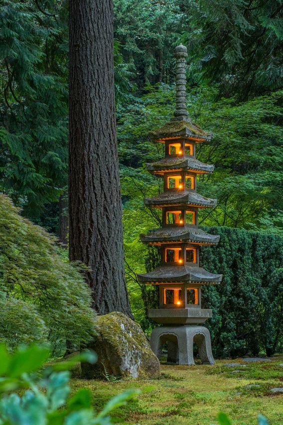 Photocathedral Oregon Places Portland japanese garden
