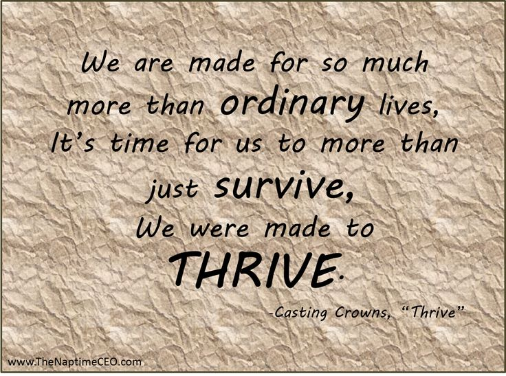 We were made to THRIVE! - Lyrics from Casting Crowns' Thrive
