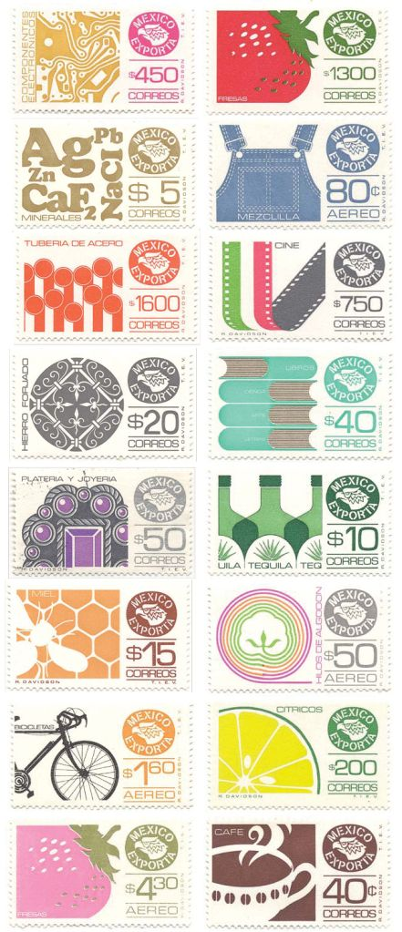 Mexican postage stamps.