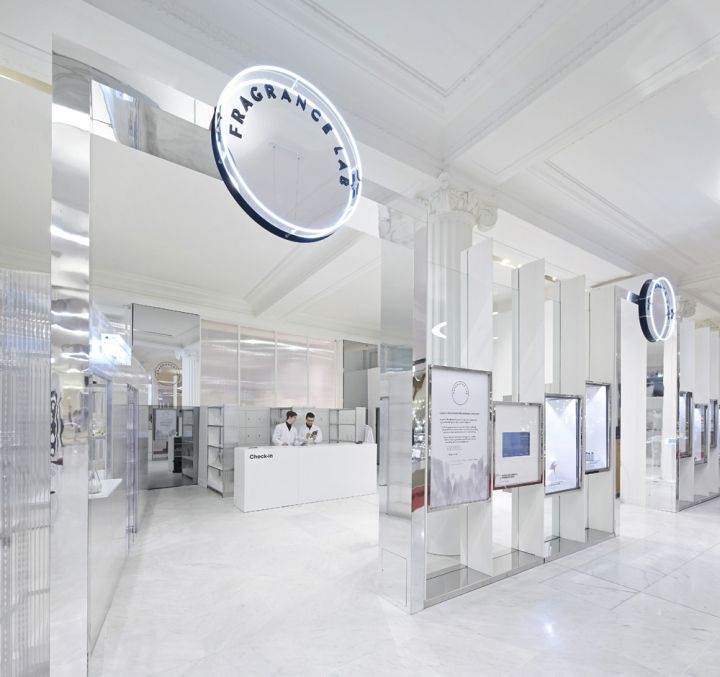Fragrance Lab installation by Campaign, The Future Laboratory, Selfridges and Givaudan, London cosmetics