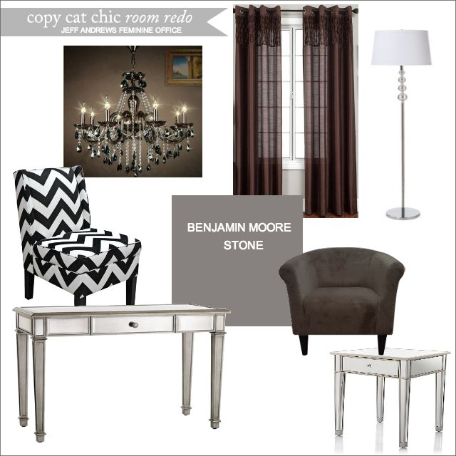 Copy Cat Chic Room Redo | Jeff Andrews Feminine Office