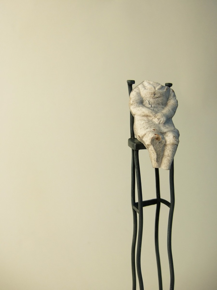 Lucy Elsie Harvey - The Sitter    Reappropriated ceramic, copper, silver solder    2011