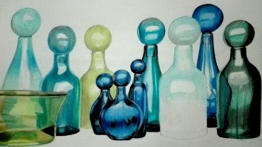 PL—1 Lápices de Colores. Glass Jars by Elizabeth Lyons