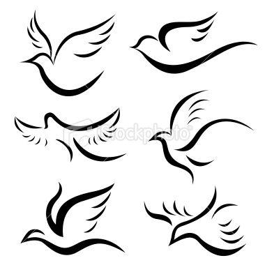 Colombe Libert Tatouage Aile Artificielle Vectoriel Illustration