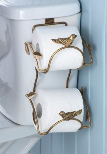 Leaf-Bird-Bathroom-Toilet-Paper-Roll-Tissue-Holder-Storage-Metal-11-L-NEW-I8687