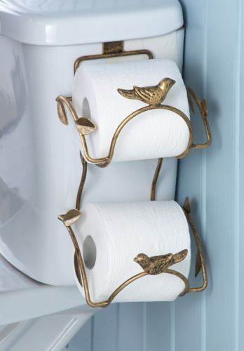 Leaf-Bird-Bathroom-Toilet-Paper-Roll-Tissue-Holder-Storage-Metal-11-L-NEW-I8687