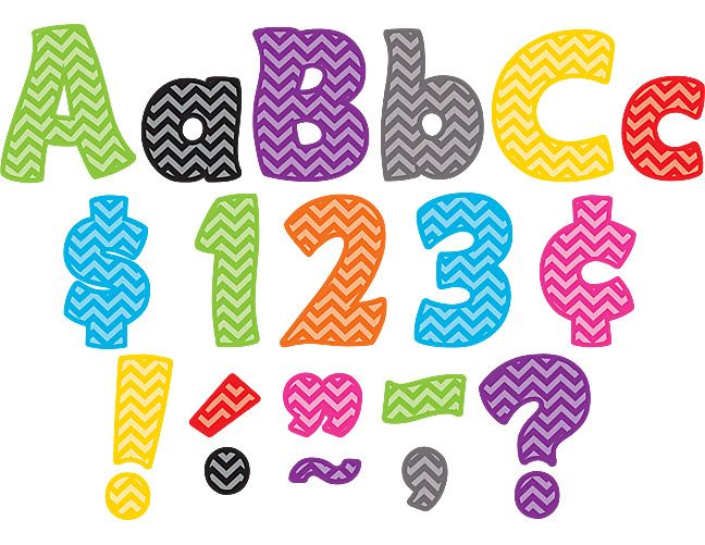 """Chevron Funtastic 4"""" Letters Combo Pack"""