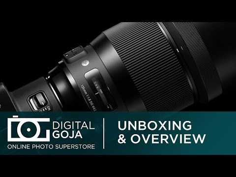 The Awesome Sigma 135mm f1.8 DG HSM Lens | Unboxing & Overview | Art Series Lens for Canon EF Mount - YouTube