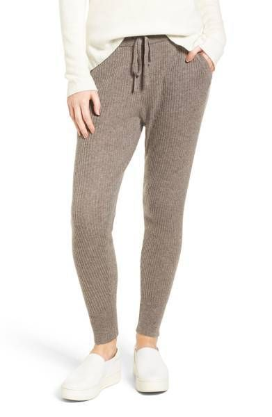 STYLECASTER | Cozy Lounge Wear for Winter | Ribbed Cashmere Leggings