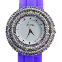 YiHan Lovely Purple Women Girl Quartz Ladys Wrist Watch New Sparkling Crystal #AnInfomatiqueFavorite