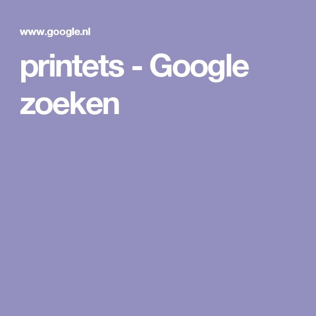 printets - Google zoeken