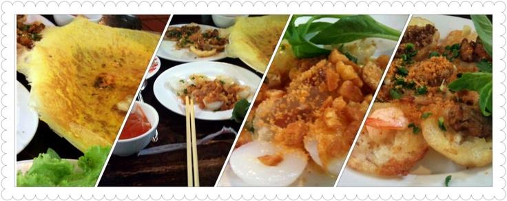 Vietnamese traditional Xèo, Khọt, Bèo, Lọc.. cakes