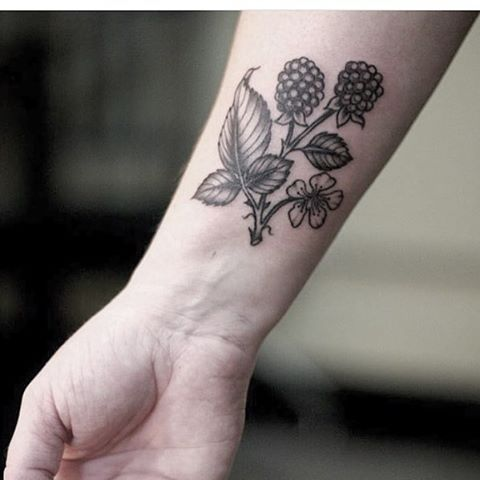 "2,176 Likes, 13 Comments - Wonderland Tattoo (@wonderlandpdx) on Instagram: ""Little #sprig of #blackberry by Savannah Trevino @savvytattoos #botanicaltattoo #fruit #bramble…"""