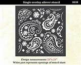 25+ best ideas about Paisley Stencil