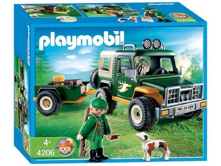 Playmobil - 4206 - La Vie à la ferme - Garde forestier + Jeep + Remorque: Amazon.fr: Jeux et Jouets
