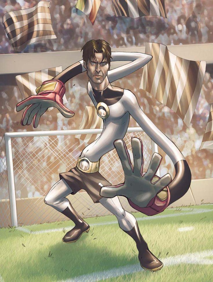 Artwork: Gianlugi Buffon [Juventus] by Denis Medri.