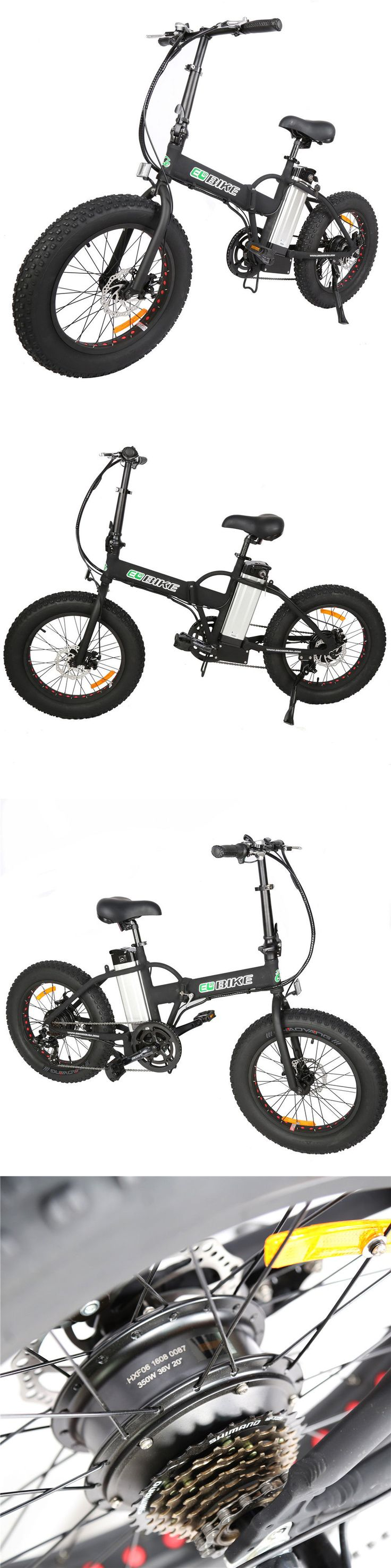 Electric Bicycles 74469: Electric Folding Bike Foldable Fat Tire Bicycle Beach Cruiser Snow E-Bike 20*4 BUY IT NOW ONLY: $820.0