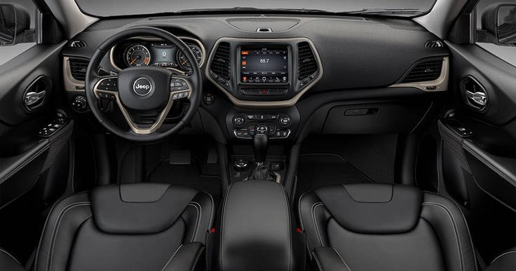2015 Jeep Cherokee Limited Interior in Black Morocco