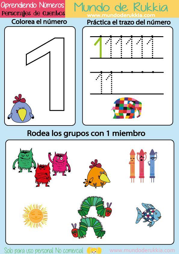 actividades elmer, actividades monstruo de colores, actividades oruga glotona, aprender numeros, fichas matematicas, aprender jugando, imprimibles de cuentos infantiles, mundo de rukkia, aprender numeros