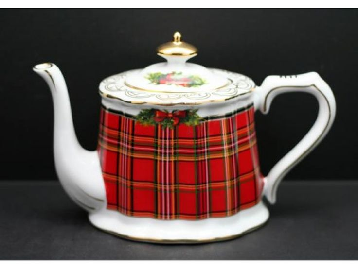 Scottish Christmas Collection 1500 cc Teapot - Scottish Red Plaid
