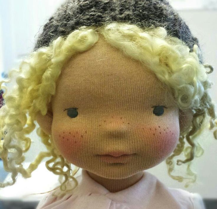 So adorable. No website or credited doll maker, really cute!