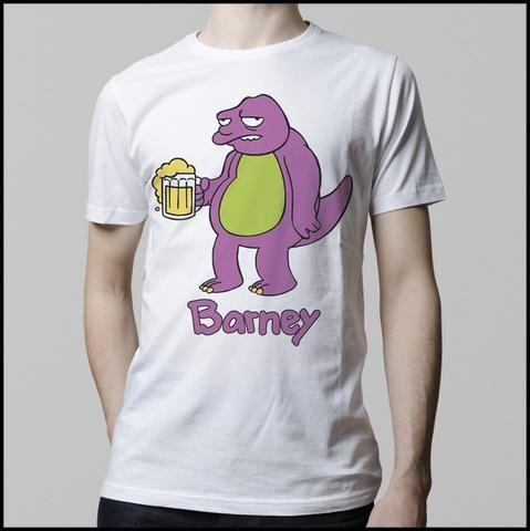 Ropa: Playera Hombre Barney (Simpsons) Personajes Tv y Cine